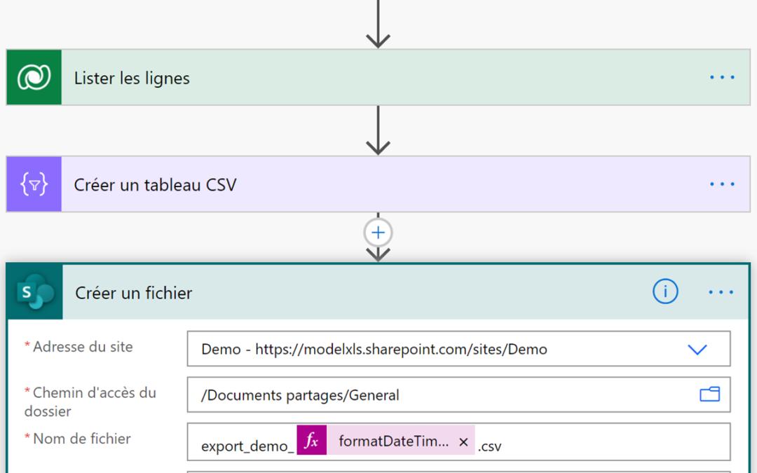 Exporter des données Dataverse dans un CSV depuis Power Apps
